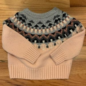 🏇🏼 2/$20 Pink Fair Isle Gap Sweater 12-18months